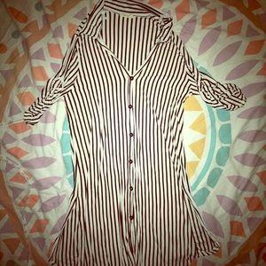 Striped cardigan/dress